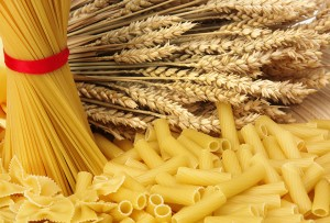 Close up of the background pasta