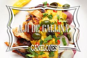 Canelones de Ají de Gallina
