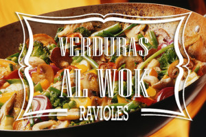 Ravioles de Verduras al Wok