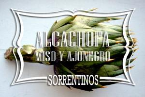 Sorrentinos de Alcachofa Miso y Ajonegro